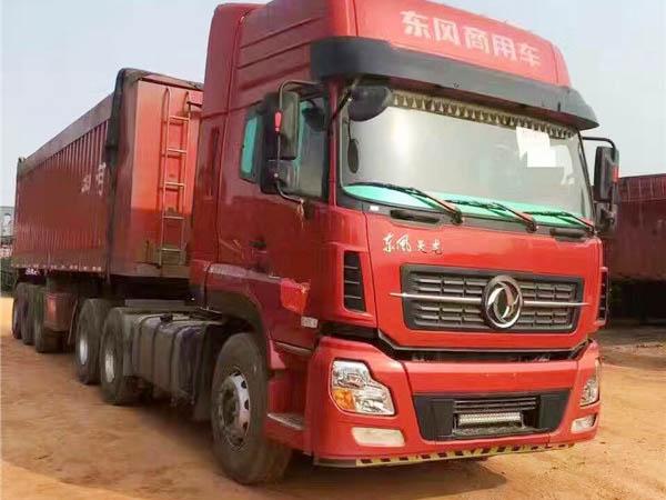東風天龍啟航版半掛自卸、8.5米正翻車廂、頭和板可以分開賣