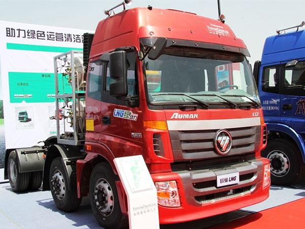 福田-歐曼ETX-6係重卡-380馬力-6X2-LNG牽引車(雙罐)(BJ4253SNFCB-XA)